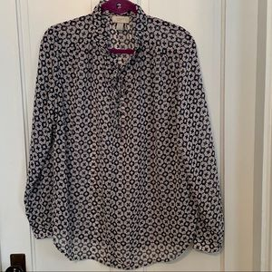 Loft long sleeve blouse size L GUC